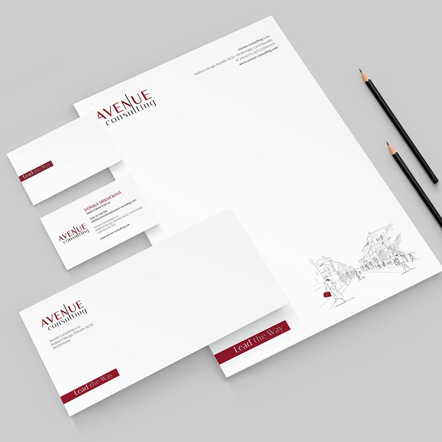 Logo a identita pro Avenue Consulting